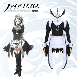 Game Fire Emblem Flora Fancy Dress Maid Cosplay Costume for Carnival Halloween