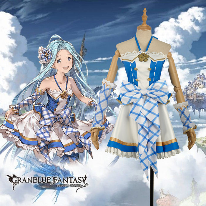 Game Granblue Fantasy Lyria Ruria Fancy Lovely Cosplay Costume Custom Made for Girls Adult Women Halloween Carnival Party Outfits