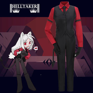 Game Helltaker Cerberus Black Uniform Cosplay Costume Custom Made Halloween Carnival Party
