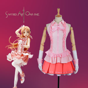 Game Sword Art Online Yūki Asuna/Yuuki Asuna Pink Uniform Outfit Cosplay Costume Halloweenn Carnival Party