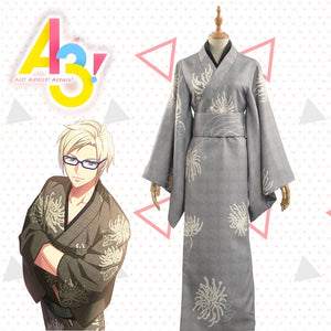 Game A3! Act!Addict!Actors! Autumn Troupe Summer Festivity Sakyo Furuichi Kimono Yutaka Cosplay Costume Adult Outfit Clothing