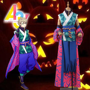 Game A3! Act!Addict!Actors! Summer Troupe Kazunari Miyoshi Kimono Cosplay Costume for Carnival Halloween
