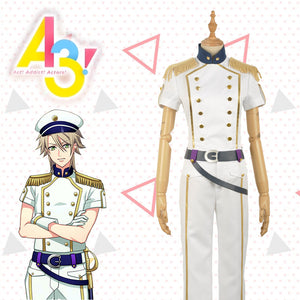 Game A3! Act!Addict!Actors! Summer Troupe Kazunari Miyoshi Uniform Cosplay Costume for Carnival Halloween
