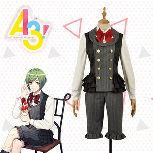 Game A3! Act!Addict!Actors! Summer Troupe Rurikawa Yuki Uniform Cosplay Costume Custom Made for Adult Women Men Carnival Halloween