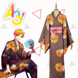 Game A3! Act!Addict!Actors! Summer Troupe TENMA SUMERAGI Uniform Male Cosplay Costume Custom Made for Adult Men Carnival Halloween
