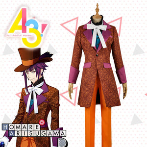 Game A3! Act!Addict!Actors! Winter Troupe Arisugawa Homare Uniform Cosplay Costume for Carnival Halloween