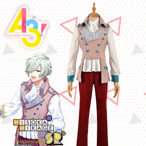 Game A3! Act!Addict!Actors! Winter Troupe Mikage Hisoka Uniform Cosplay Costume for Carnival Halloween