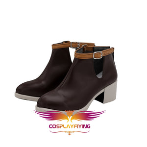 Game Anime A3! Usui Masumi Brown Cosplay Shoes Boots Custom Made for Adult Men and Women Halloween Carnival
