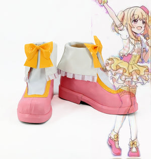 Game Anime Battle Girl High School Michelle Watagi Cosplay Shoes Boots Custom Made for Adult Men and Women Halloween Carnival