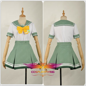 Game Anime Battle Girl High School Watagi Michelle Academy Uniform Cosplay Costume for Carnival Halloween