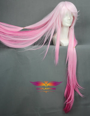 Game Anime Gulity Crown Yuzuriha Inori Pink White Gradient Long Cosplay Wig Cosplay for Girls Adult Women Halloween Carnival Party