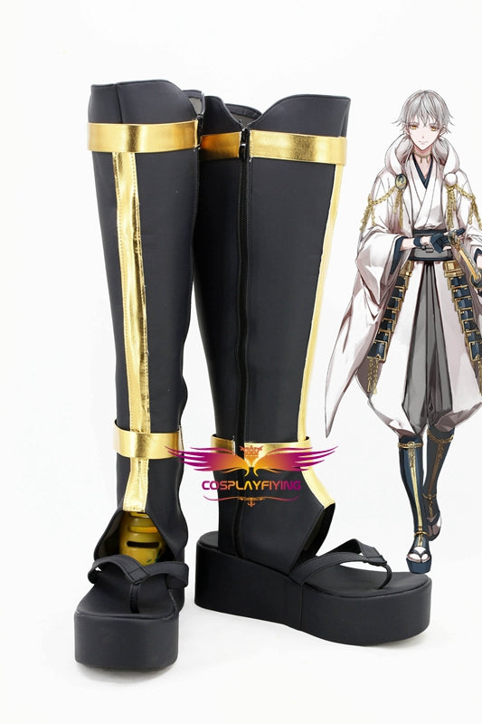 Game Anime ONLINE Touken Ranbu Online Tsurumaru Kuninaga Cosplay Shoes Boots Custom Made for Adult Men and Women Halloween Carnival