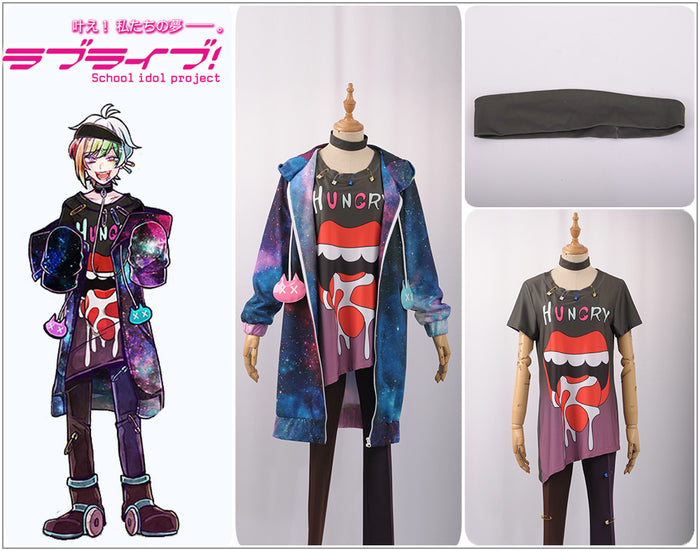 Game Bad Wolf Ookami Iida Rintarou Halloween Christmas Printed Cool Fashion Uniform Outfit Cosplay Costume Top+Shirt+Pants
