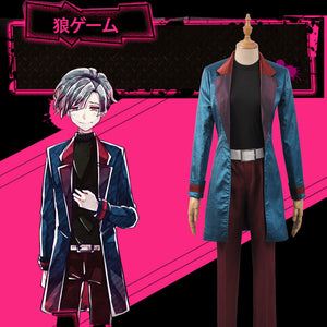 Game Bad Wolf Ookami Komiya Chigusa Halloween Christmas Blue Jacket Uniform Cosplay Costume