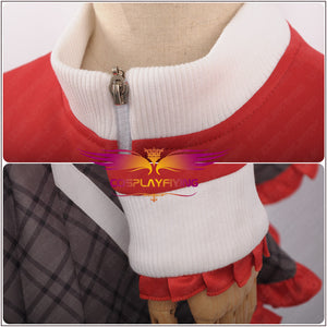 Game Bad Wolf Ookami Mori Misaki Halloween Christmas School Girl Women Curly Women Wig Outfit Cosplay Costume Top+Skirt+Hairband