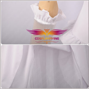 Game Bowsette Kuppa Koopa Hime Teresa Princess Long White Party Dress Cosplay Costume for Carnival Halloween