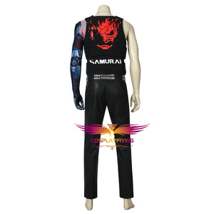 Game Cyberpunk 2077 V Johnny Silverhand Cosplay Costume Full Set for Halloween Carnival