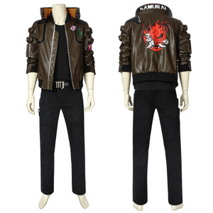 Game Cyberpunk 2077 V the Male Player Cosplay Costume Full Set for Halloween Carnival