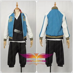 Game DRB Bad Ass Temple Evil Monk Unifrom Cosplay Costume Custom Made for Boys Adult Men Carnival Halloween