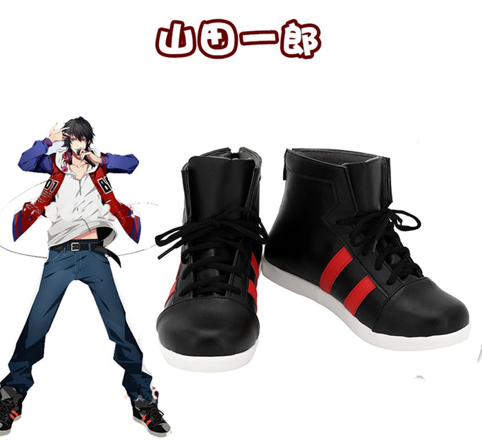 Game DRB Division Rap Battle Hypnosis Mic Yamada Ichiro Cosplay Shoes Boots Custom Made for Adult Men and Women Halloween Carnival