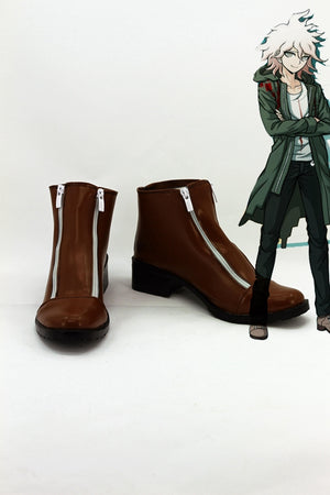 Game Danganronpa 2 Nagito Komaeda Cosplay Shoes Boots Custom Made for Adult Men and Women Halloween Carnival