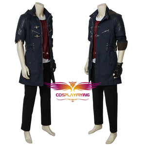 Game Devil May Cry 5 DMC5 Nero Cosplay Costume Full Set Custom Made for Halloween Carnival