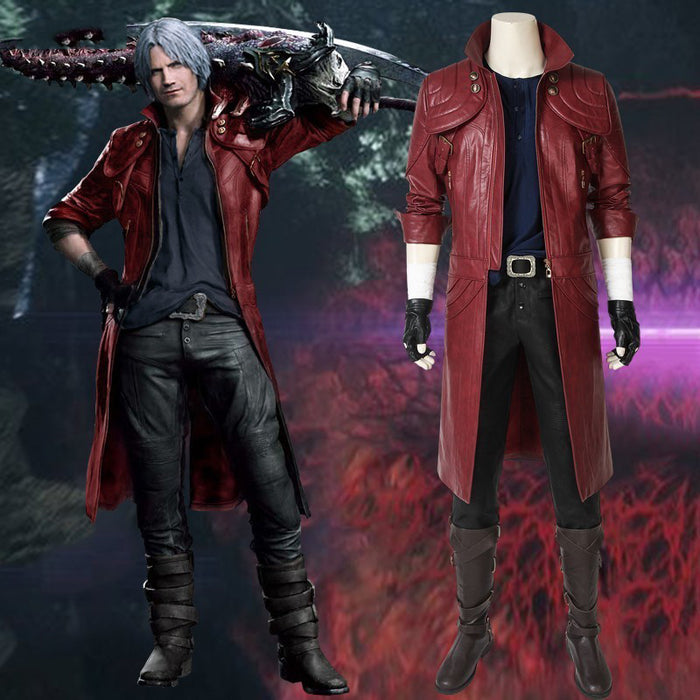 Game Devil May Cry 5 DMC5 Dante Cosplay Costume Full Set Custom Made for Halloween Carnival