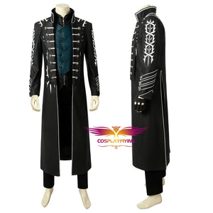 Game Devil May Cry 5 Vergil Cosplay Costume Full Set for Halloween Carnival