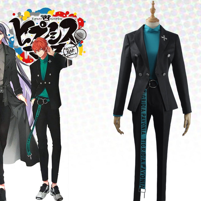 Game Division Rap Battle Hypnosis Mic Matenrou Kannonzaka Doppo Cosplay Costume Uniform Outfit Letters Belt