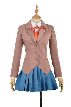 Doki Doki Literature Club! Monika Female School Uniform Cosplay Costume for Carnival Halloween