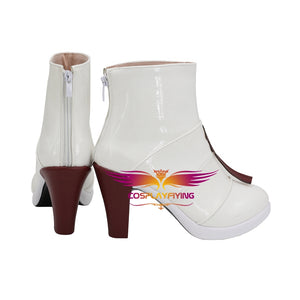 Game Dragon Raja Uesugi erii White Cosplay Shoes Boots Custom Made Adult Men Women Halloween Carnival
