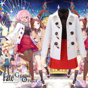Game FGO Fate/Grand Order Mash Kyrielight Winter Festival Cosplay Costume Adult Custom Made Halloween Carnival Party