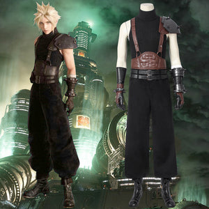 Game FINAL FANTASY VII FFVII FF7 Cloud Strife Cosplay Costume Full Set for Halloween Carnival