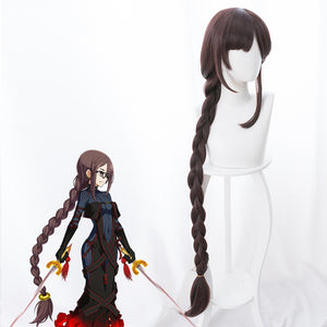Game Fate/Grand Order FGO Akuta Hinako Super Long Straight Cosplay Wig Cosplay for Adult Women Halloween Carnival