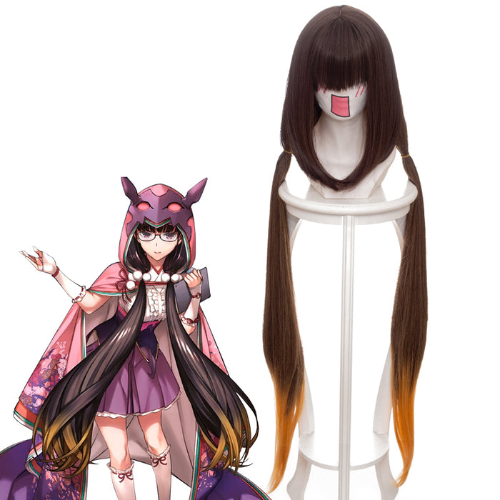 Game Fate/Grand Order FGO Scathach Osakabehime Ponytail Gradient Long Cosplay Wig Cosplay for Adult Women Halloween Carnival