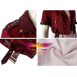 Game Final FantasyVII FF7 Aerith Gainsborough Cosplay Costume Full Set for Halloween Carnival
