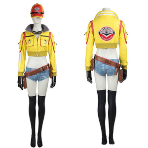 Game Final Fantasy XV Cindy Aurum Cosplay Costume Full Set for Halloween Carnival