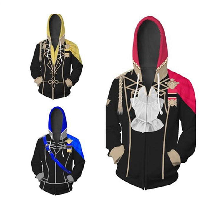 Game Fire Emblem Three Houses Unisex 3D Zip Up Long Sleeve Hoodie Costume for Men Women