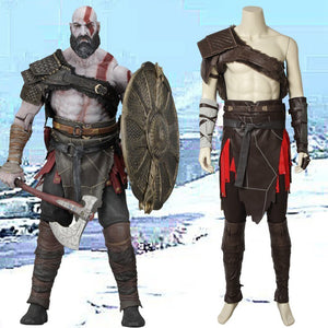 Game GOD OF WAR Kratos Cosplay Costume Outfit Full Set for Halloween Carnival