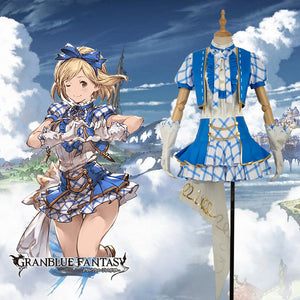 Game Granblue Fantasy Djeeta Fancy Lovely Cosplay Costume Custom Made for Girls Adult Women Halloween Carnival Party Outfits