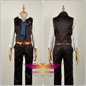 Game Granblue Fantasy The Dragon Knights Venn Chamois Leather Cosplay Costume Outfit