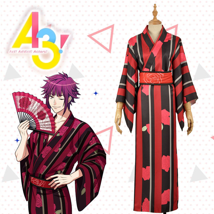 Game Hand Tour A3! Act!Addict!Actors! Summer Troupe Arisugawa Homare Kimono Yutaka Cosplay Costume Men Fashion Outfit Adult
