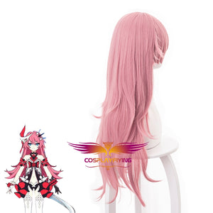 Game Honkai Impact 3 Liliya Olenyeva Pink Curly Cosplay Wig Cosplay for Adult Women Halloween Carnival