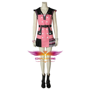 Game Kingdom Hearts 3 Dream Drop Distance Kairi Princess of Heart Cosplay Costume Full Set for Carnival Halloween