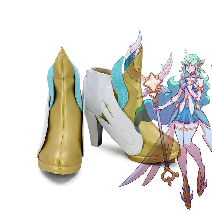 Game LOL League of Legends Soraka Cosplay Shoes Boots Custom Made for Adult Men and Women Halloween Carnival