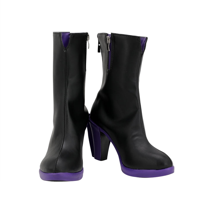 Game League of Legends (LOL ) The Sinister Blade Katarina Black Purple Cosplay Shoes Boots Custom Made for Adult Men and Women Halloween Carnival