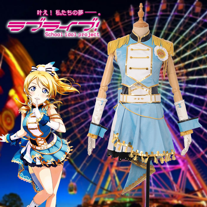 Game LoveLive!Sunshine!! 6th Anniversary Ayase Eli Cosplay Costume Girls Women Dress Custom Made Halloween Carnival
