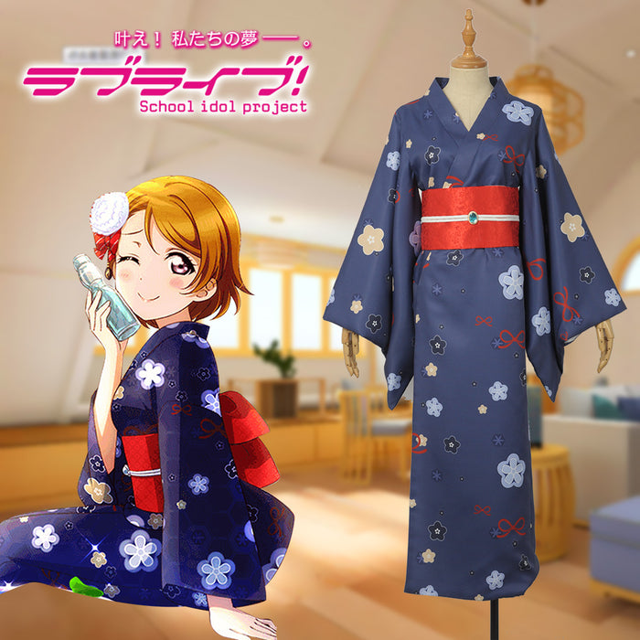Game Love Live! Hanayo Koizumi Cosplay Costume Women Dress Purple Kimono Custom Made Carnival Halloween