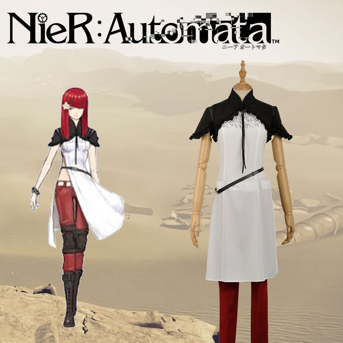 Game NieR:Automata Devola/Popola Cosplay Costume Custom Made for Girls Adult Women Outfit Carnival Halloween