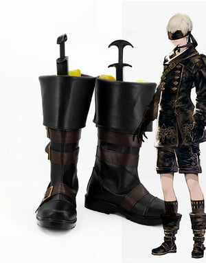 Game NieR:Automata 9S YoRHa No. 9 Type S Cosplay Shoes Boots Custom Made for Adult Men and Women Halloween Carnival